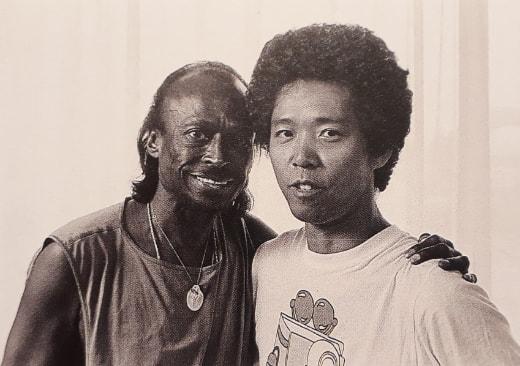 Miles and Shigeru Uchiyama in 1985 © Shigeru Uchiyama