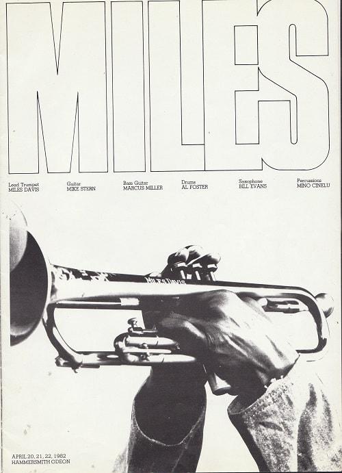 Miles Davis 16-page colour 1982 concert programme page 2