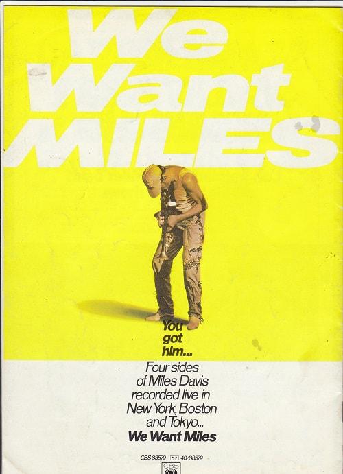 Miles Davis 16-page colour 1982 concert programme back cover