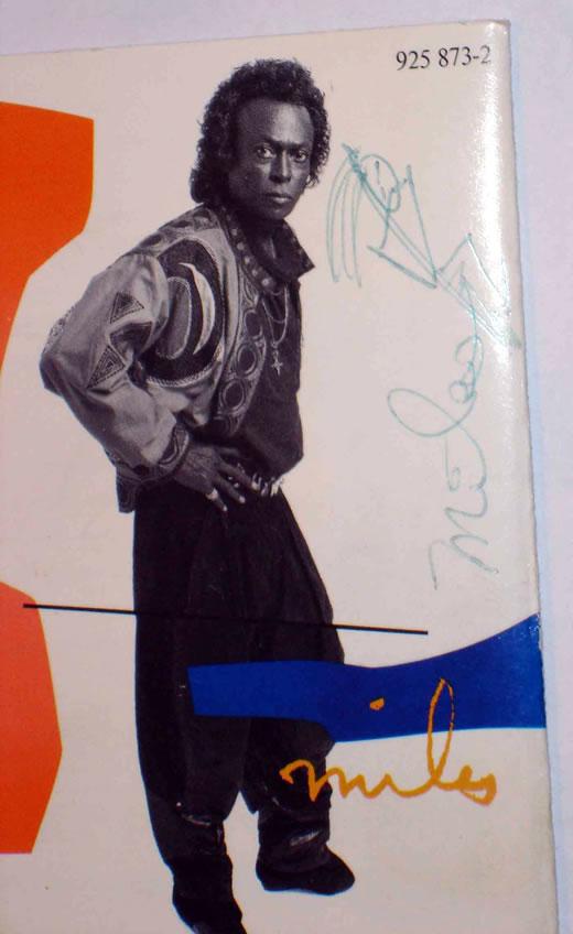 Miles Davis' autograph