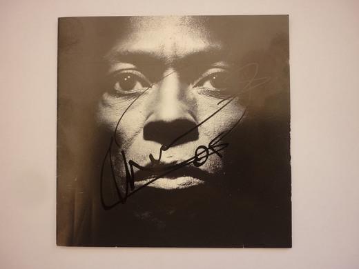 Tutu album signed by Marcus Miller