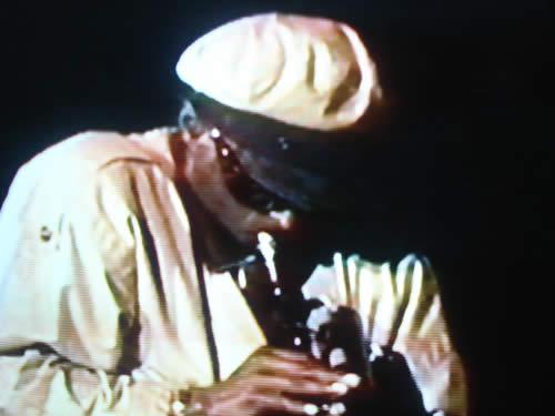 Miles on stage 1984