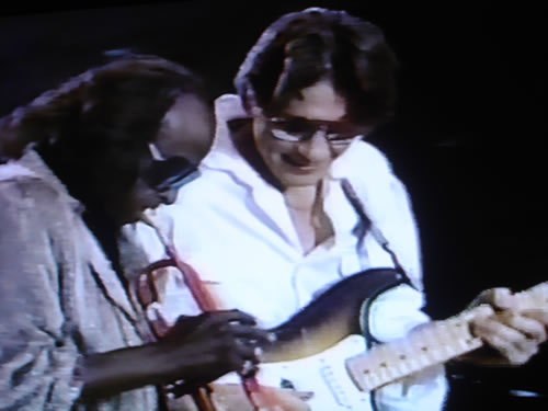 Miles Davis and Robben Ford, Giants Stadium, New Jersey 1986