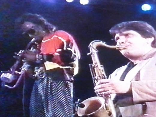 Miles with Steve Grossman