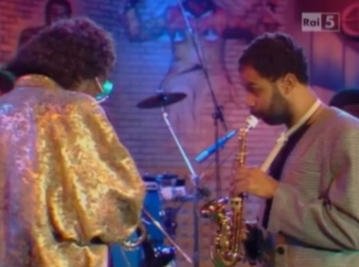 Miles and Kenny Garrett in Rome, April 1989