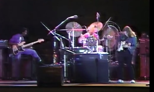 Marcus Miller, Al Foster and Mike Stern in Tokyo, October 1981