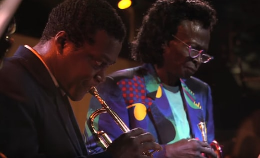 Wallace Roney and Miles at the 1991 Montreux Jazz festival